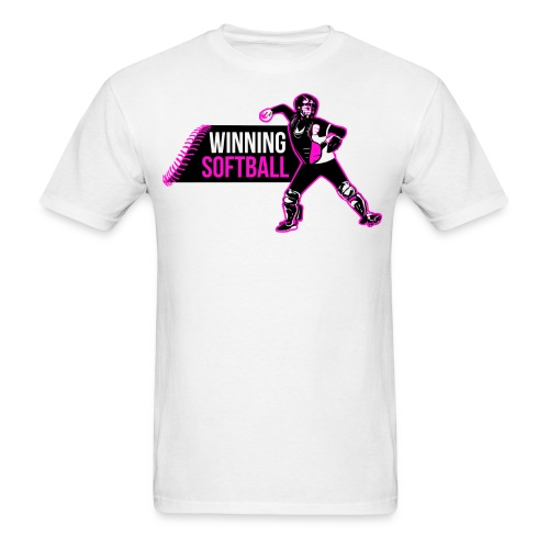 Winning Softball Shirt Pink - Men's T-Shirt