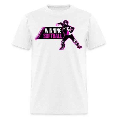 Winning Softball Shirt Pink - Men's T-Shirt