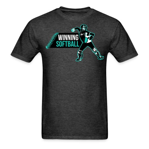 Winning Softball Logo Blue - Men's T-Shirt