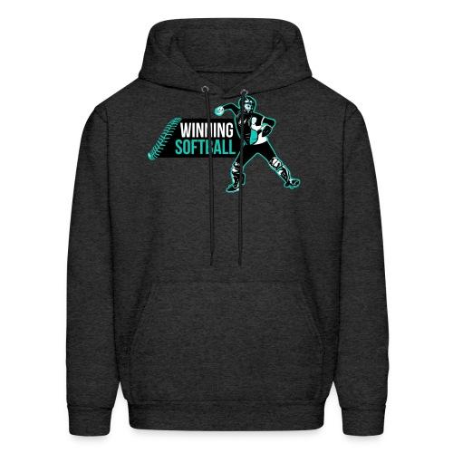 Winning Softball Gray Hoodie - Men's Hoodie