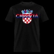 T-Shirts ~ Men's T-Shirt ~ Croatia Hrvatska logo Sahovnica 3D