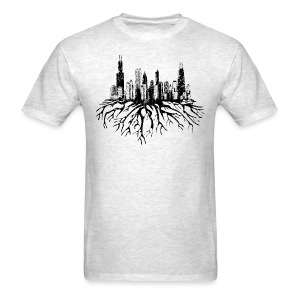 Chicago Skyline Roots - Men's T-Shirt