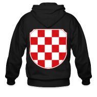 Zip Hoodies & Jackets ~ Men's Zip Hoodie ~ Croatia Hrvatska historic coat of arms Sahovnica