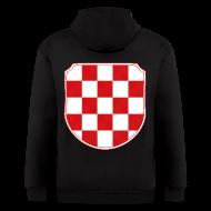 Zip Hoodies & Jackets ~ Men's Zip Hoodie ~ Croatia Hrvatska historic coat of arms Sahovnica