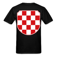 T-Shirts ~ Men's T-Shirt ~ Croatia Hrvatska historic coat of arms Sahovnica