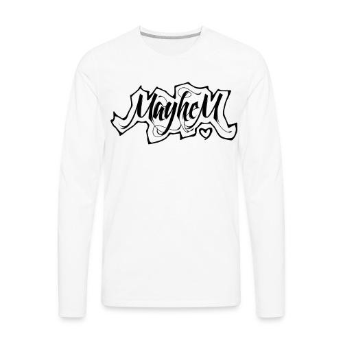 MayheM7 Logo-6 Black - Men's Premium Long Sleeve T-Shirt