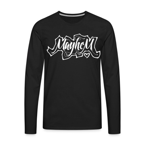 MayheM7 Logo-6 White - Men's Premium Long Sleeve T-Shirt