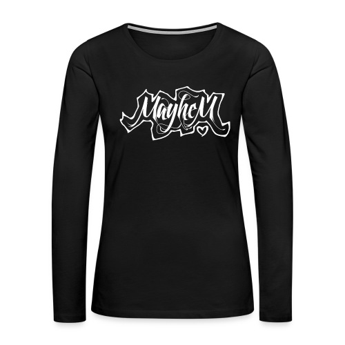 MayheM7 Logo-6 White - Women's Premium Long Sleeve T-Shirt
