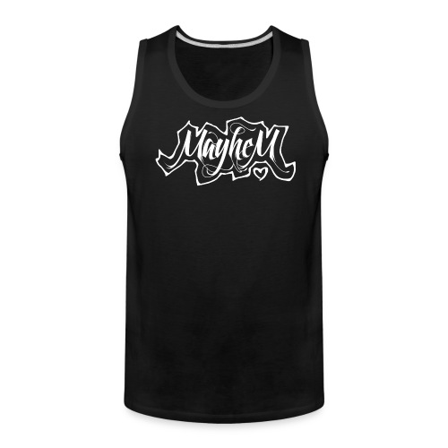 MayheM7 Logo-6 White - Men's Premium Tank