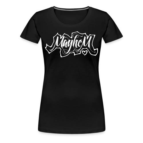MayheM7 Logo-6 White - Women's Premium T-Shirt