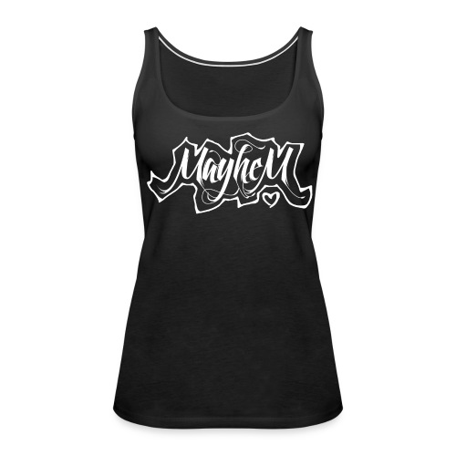 MayheM7 Logo-6 White - Women's Premium Tank Top