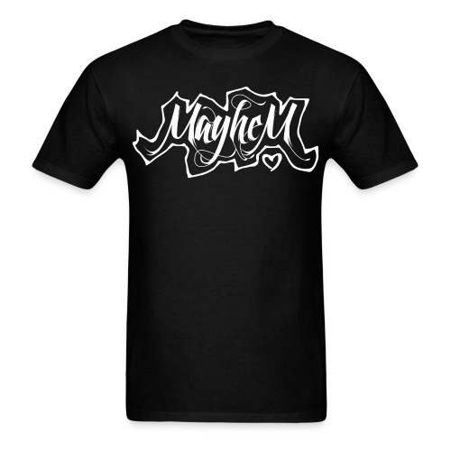 MayheM7 Logo-6 White - Men's T-Shirt