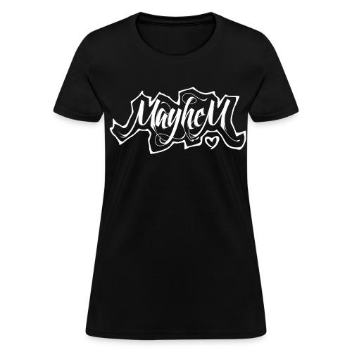 MayheM7 Logo-6 White - Women's T-Shirt