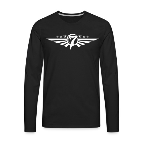 MayheM7 Logo-5 White - Men's Premium Long Sleeve T-Shirt