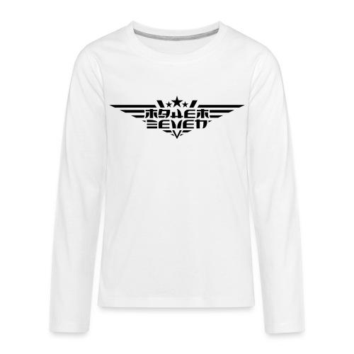 MayheM7 Logo-4 Black - Kids' Premium Long Sleeve T-Shirt