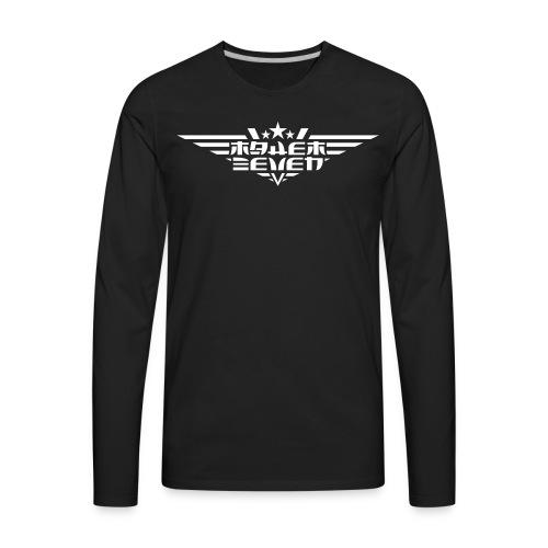 MayheM7 Logo-4 White - Men's Premium Long Sleeve T-Shirt