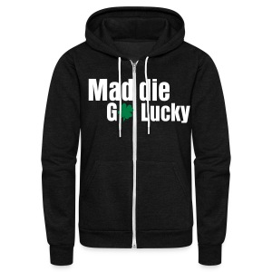 MaddieGoLucky Zip-Up Hoodie (Unisex Black) - Unisex Fleece Zip Hoodie by American Apparel