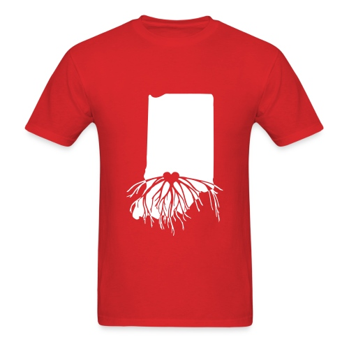 Rooted In Hoosier Nation - Men's T-Shirt