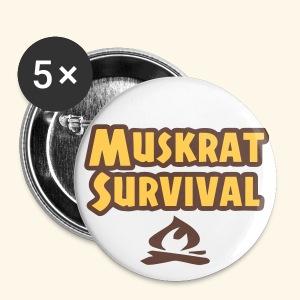 Muskrat Survival button - Large Buttons