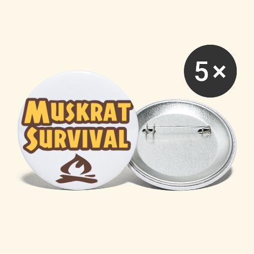 Large Muskrat Survival buttons (56 mm 2-1/4) - Buttons large 2.2'' (5-pack)