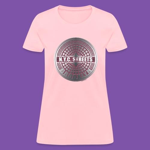 Manhole Covers Brooklyn Pink Womans Shirt - Women's T-Shirt