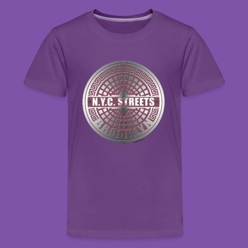 Manhole Covers Brooklyn Pink T shirt - Kids' Premium T-Shirt