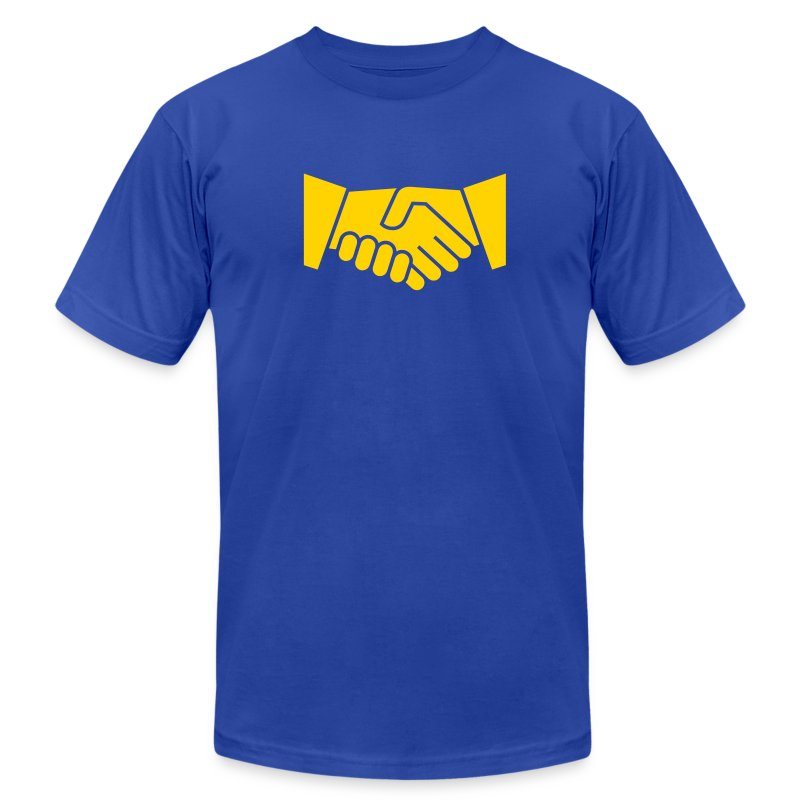 Handshake Bowl - Men's T-Shirt by American Apparel