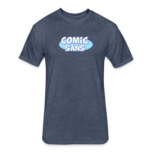 Grumpy Sans Tee - Fitted Cotton/Poly T-Shirt by Next Level