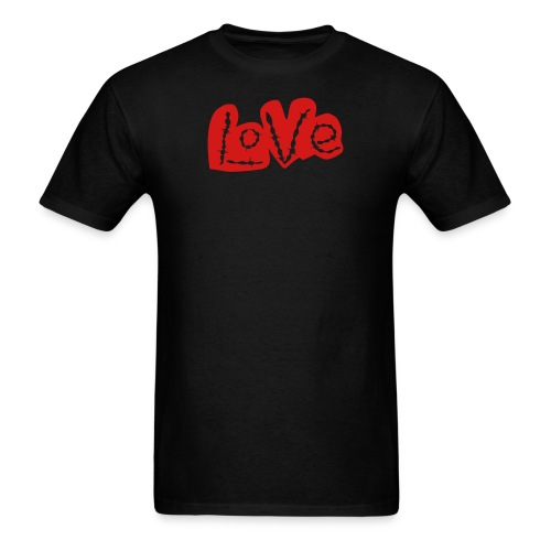 Love barbed wire heart - Men's T-Shirt