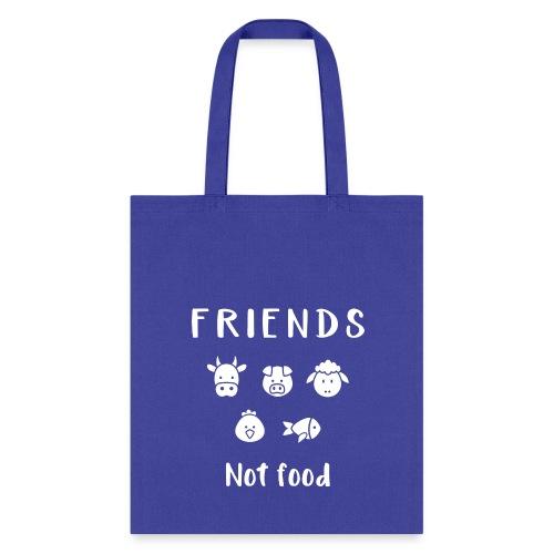 Friends not food | Vegan Tote  - Tote Bag