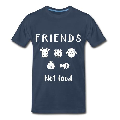 Friends not food | Vegan T-shirt - Men's Premium T-Shirt
