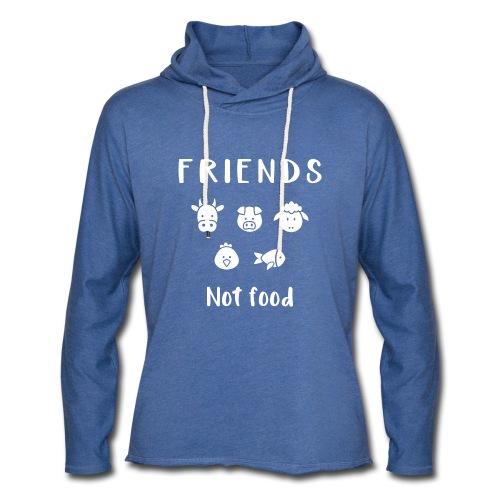 Friends not food | Vegan hoodie - Unisex Lightweight Terry Hoodie
