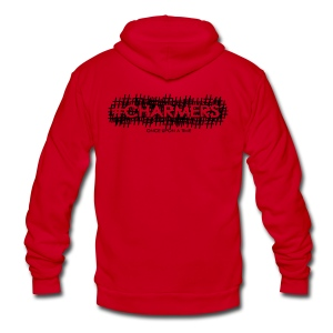 #Charmers Hoodie - BLACK ink - UNISEX - Unisex Fleece Zip Hoodie by American Apparel