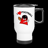 Mugs & Drinkware ~ Travel Mug ~ I love football. TM  Travel Mug