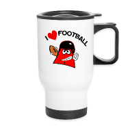 Mugs & Drinkware ~ Travel Mug ~ I love football. TM  Travel Mug
