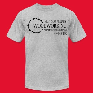 Mens and Beer T-Shirt - Men's T-Shirt by American Apparel