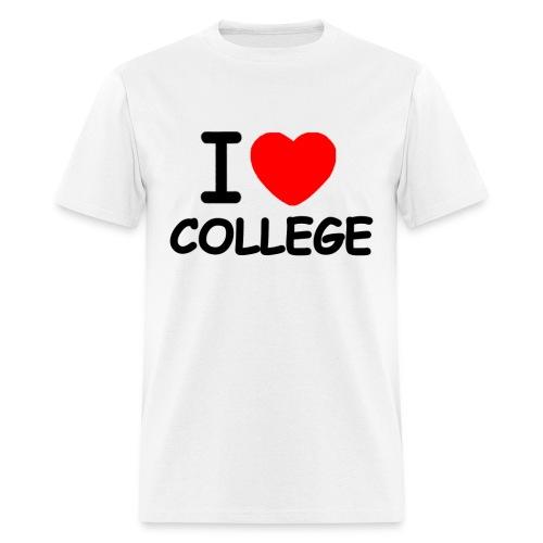 I Love College medium weight - Men's T-Shirt