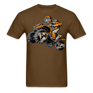 Orange Offroad ATV Rider - Men's T-Shirt