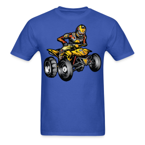Yellow Quad ATV Rider - Men's T-Shirt