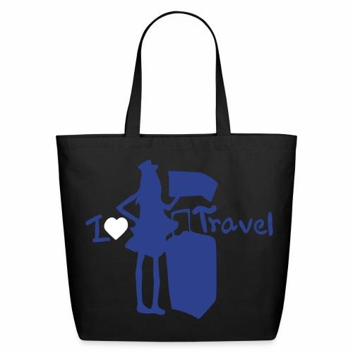 I Love Travel Tote - Eco-Friendly Cotton Tote