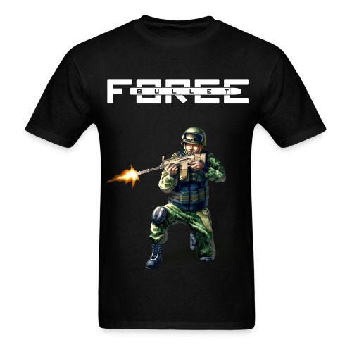 Bullet Force T-Shirt Plain Material - Men's T-Shirt