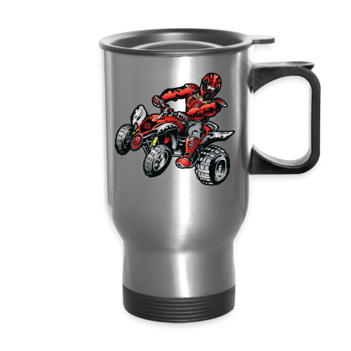 Red Off-Road ATV Quad - Travel Mug