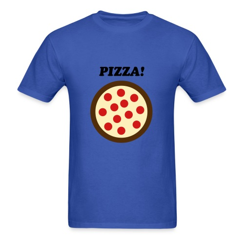 Male Pizza shirt - Men's T-Shirt