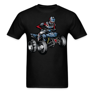 Blue Yamaha ATV Rider - Men's T-Shirt
