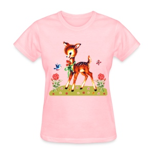 Deer Flowers - Women's T-Shirt