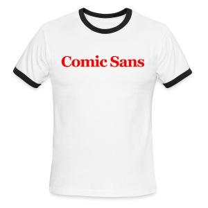 Comic Sans Ringer Tee - Men's Ringer T-Shirt