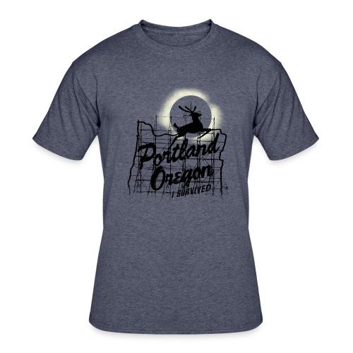 MENS 50/50 - 2017 Solar Eclipse Commemorative t-shirt - I SURVIVED - Men's 50/50 T-Shirt