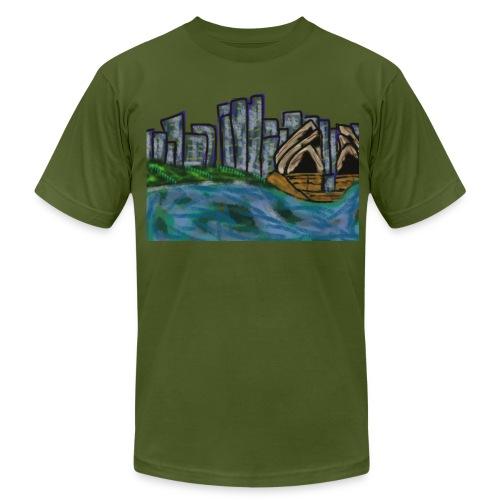 CITYMELTS SYDNEY SKYLINE  - Men's Fine Jersey T-Shirt