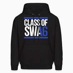 CLASS OF SWAG (2016) blue with bands Hoodies