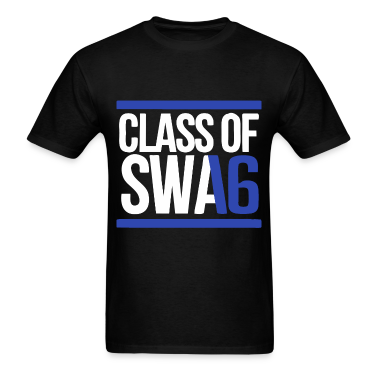 CLASS OF SWAG (2016) blue with bands T-Shirts